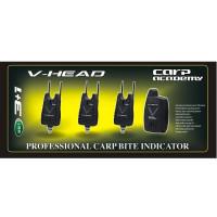 Set Avertizori Carp Academy V-Head 3+1
