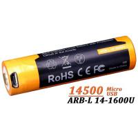 Acumulator cu Micro-USB Fenix 14500 - 1600mAh  ARB-L 14-1600U