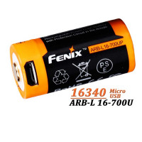 Acumulator cu Micro-USB Fenix 16340 - 700mAh  ARB-L 16-700U