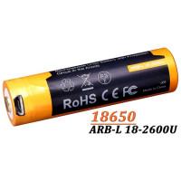 Acumulator cu Micro-USB Fenix 18650 - 2600mAh- ARB-L 18-2600U
