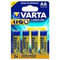 Baterie Varta Alcalina Long Life Extra Aa 4buc/blister