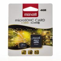 Micro Sd Maxell 4gb Cu Adaptor Sd Class 10