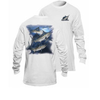 Bluza Flying Fisherman Marlin White Long Sleeve Tee M