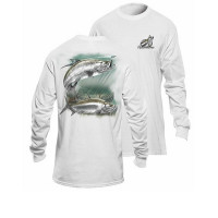 Bluza Flying Fisherman Tarpon White Long Sleeve Tee XL