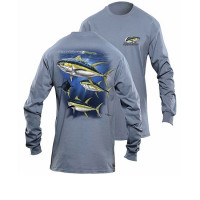 Bluza Flying Fisherman Yellowfin Tuna Indigo Blue Long Sleeve Tee Xxl