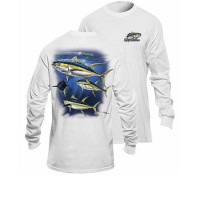 Bluza Flying Fisherman Yellowfin Tuna White Long Sleeve Tee L