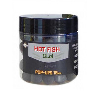 Boilies Dynamite Baits Hot Fish GLM Food Bait Pop-Ups 15mm