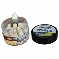 Boilies and Dumbells Dynamite Baits Pop-up The Source White Fluro 15mm