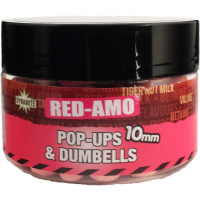 POP-UP AND DUMBELLS DYNAMITE BAITS FLUORO PINK RED AMO 15MM