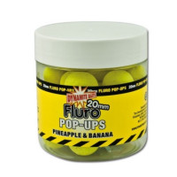 POP-UP DYNAMITE BAITS FLUORO PINEPPLE AND BANANNA PLUS LICHID ATRACTANT 20MM