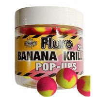 POP-UP DYNAMITE BAITS FLUORO TWO TONE KRILL AND BANANNA 20MM