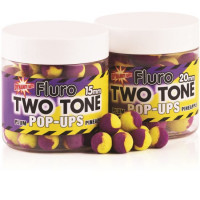 POP-UP DYNAMITE BAITS TWO TONE FLUORO PLUM PINEAPPLE 15MM
