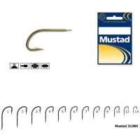 Carlig Mustad M31380, Forjat cu Tija Scurta, Auriu, 10buc/plic Nr.14