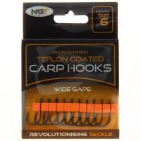 Carlige NGT Teflonate Wide Gape Carp Hooks, 10buc/plic Nr.10