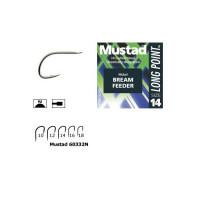Carlig Mustad Feeder MU11, Nickel, 10buc/plic Nr.14