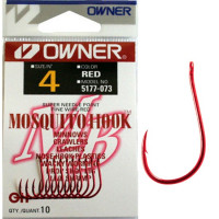 Carlig Owner 5177 No.4 Mosquito Red Hook