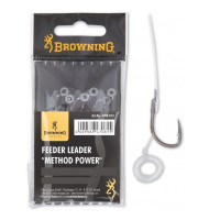 Carlige Legate Browning 10cm Nr.10 Fir 0.22mm Feeder Method hook to nylon with pellet band