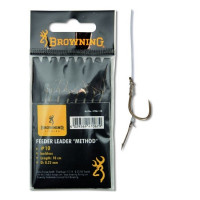 Carlige Legate Browning Feeder Method hook-to-nylon with boilie needle Bronze 10cm Nr.10 8buc/plic