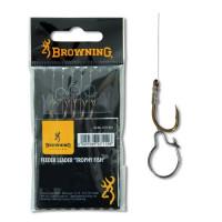 Carlige Legate Browning Nr.12 75cm Fir 0.22mm Feeder Maggot Clip
