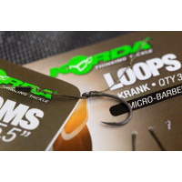 Riguri Korda Loops Krank Micro-Barbed Nr8 18lbs 3buc/blister