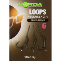 Riguri Korda Wide Gape X Loops Micro-Barbed NR6 18lbs 3buc/blister