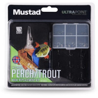 Combo Cleste Mustad Multifunctional + Accesorii Hook Replacement Perch & Trout
