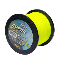 Fir Monofilament Claumar Super Long Cast Yellow Fluo 0.40mm 19.20kg 1200m