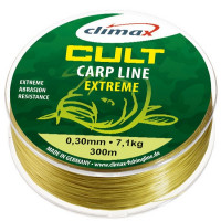 Fir monofilament Climax CULT CRAP EXTREME 300m 0.28mm 5.80kg Matt Olive