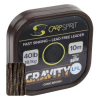 FIR TEXTIL CARP SPIRIT GRAVITY LEAD FREE LEADER 40LB 10MT CAMO GREEN