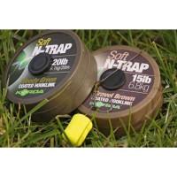 Fir Textil Korda N-Trap Soft Coated, Weedy Green, 20M/20LBS
