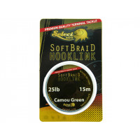 Fir textil Select Baits Soft Braid Hooklink 25Lb/15M Green