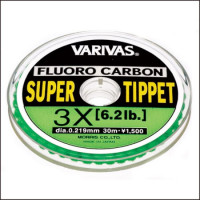 FIR MONOFILAMENT VARIVAS SUPER TIPPET FLUOROCARBON 10X 30M