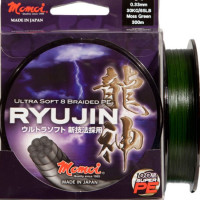FIR TEXTIL MOMOI RYUJIN PE BRAIDED-MOSS GREEN-300M 0.43MM 45KG 100LB