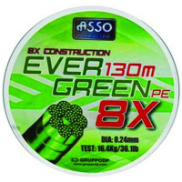 Fir ASSO Evergreen PE 8X Verde 0.24mm 130m