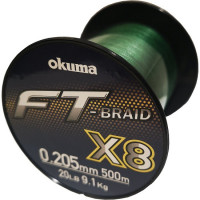 Fir Textil Okuma FT Braid X8 Green 500m 0.20mm 9.10kg