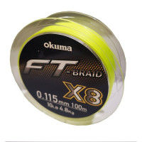 Fir Textil Okuma FT Braid X8 Yellow 100m 0.26mm 13.6kg