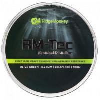 Fir textil RidgeMonkey RM-Tec Braided Mainline 0.28mm 20lb 300MT
