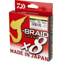 FIR DAIWA J-BRAID GRAND X8 YELLOW 018MM/12.5KG/135M