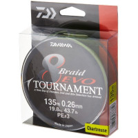 FIR DAIWA TOURNAMENT X8 EVO CHART.008MM/4,9KG/135M