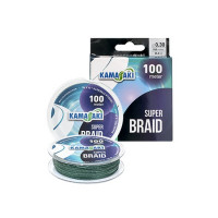 FIR TEXTIL KAMASAKI SUPER BRAID 100M 0,10 MM