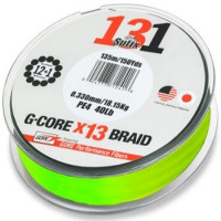 FIR TEXTIL SUFIX 131 G-CORE X13 BRAID NEON CHARTREUSE 150M 0.128 mm 6.80kg