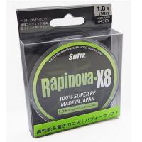 FIR TEXTIL SUFIX RAPINOVA X8 LEMON GREEN 150M 0.185MM