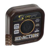 Fir Textil Carp Spirit Reaction Braid Camo Brown 20m 20lbs 9.10kg
