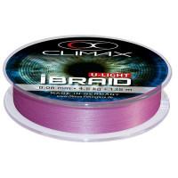 Fir textil Climax iBRAID U-LIGHT FLUO PURPLE 135m 0.08mm 6.0kg