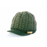 Caciula Sapca Navitas Cable Knit peak Beanie green