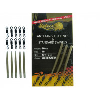 Select Baits Anti-tangle Sleeves and Standard Swivels 40mm/Nr.8