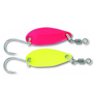 Lingura Oscilanta 40mm 4.5gr Quantum Magic Trout Gambler Yellow Pink