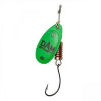 Rotativa 4gr DAM Effzett Spinner With Single Hook Green