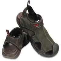 Papuci Crocs Swiftwater Sandal Espresso Marimea 39,40 M7