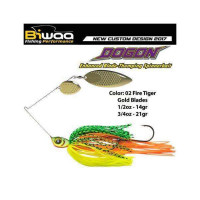 Spinnerbait Biwaa Dogon 14g White Fire Tiger-Gold Blades